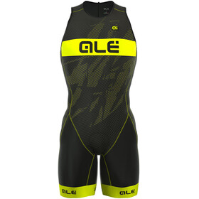 Alé Cycling Triathlon Olympic Record Heren Back Zipper geel/zwart